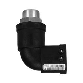Übergangswinkel 90° PE-HD / Messing