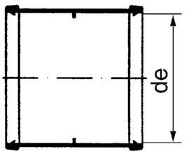 PP Kanal-Doppelmuffen
