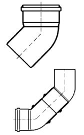 PVC-Kanal Bogen