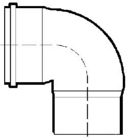PVC-Kanal Tauchbogen 90°