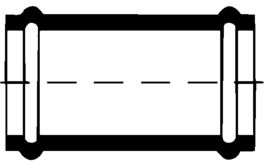 PVC-Kanal Überschiebemuffen