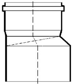 PVC-Kanal Reduktionen
