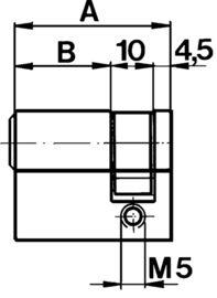 Profil-Halbzylinder