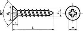 Senkkopf-Spanplattenschrauben