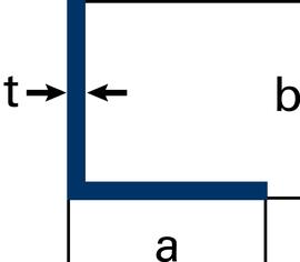 Winkelprofile gleichschenklig